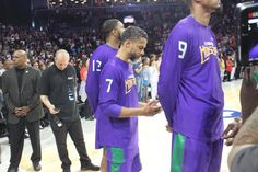Mahmoud Abdul-Rauf prays during the playing of the national anthem before  Big3 debut Sunday 27a5e36e2