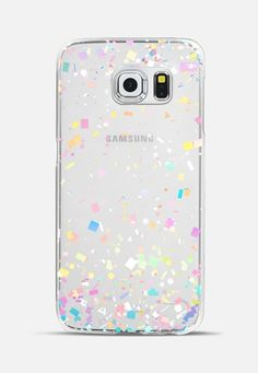 Pastel Confetti Explosion Transparent Galaxy S6 Edge Case by Organic Saturation | Casetify