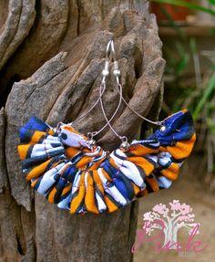 African Print Earrings. Made in Kenya