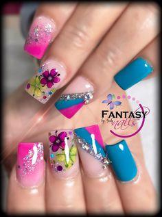 Fabulous Nails, Perfect Nails, Colorful Nail Designs, Nail Art Designs, Sassy Nails, Silver Nails, Luxury Nails, Best Acrylic Nails, Hot Nails