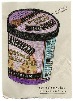 My favorite ice cream by littleisdrawing