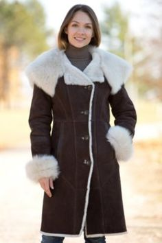 Women's Wendy Hooded Shearling Sheepskin Coat with Toscana Trim By Overland Sheepskin Co, http://www.overland.com/Products/NewNotable-590/HotBrands-1003/OverlandCoats-8405/WomensWendyHoodedShearlingSheepskinCoatwithToscanaT/PID-12909.aspx