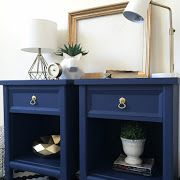 Lots of Painted Furniture ideas to give your old furniture a new look. Add legs, paint, remove doors to give your furniture piece a high end custom look on a budget!