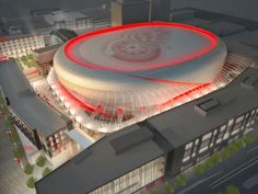 New Arena the future home of the Detroit Red Wings