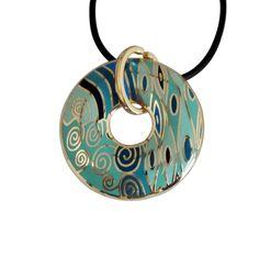 Enamel Pendant Necklace