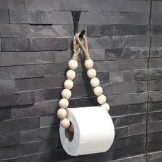 Diy Toilet Paper Holder, Toilet Paper Art, Paper Towel Holder, Paper Towel Rolls, Towel Hanger, Beaded Curtains, Handmade Home Decor, Wooden Beads, Sisal