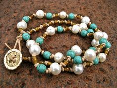 Boho Bracelet - like the pearls and turquoise