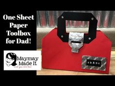 One Sheet Paper Toolbox for Dad! Coin Purse Tutorial, Zipper Pouch Tutorial, Backpack Tutorial, Tutorial Sewing, Tote Tutorial, Stampin Up, Paper Purse, Bag Patterns To Sew, Sewing Patterns