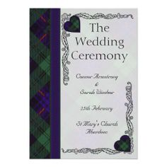 Scottish Tartan Wedding Program