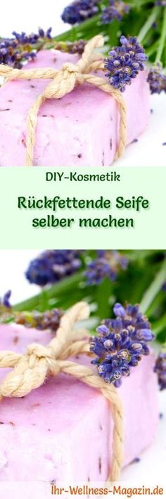 Make your own moisturizing soap - soap recipe & instructions- Rückfettende Seife selbst machen – Seifen-Rezept & Anleitung Making soap – soap recipe: Make your own moisturizing soap – it cleans thoroughly and gently and does not dry out the skin … - Shampooing Diy, Diy Shampoo, Homemade Soap Recipes, Recipe Instructions, Home Made Soap, Natural Cosmetics, Handmade Soaps, Soap Making, Diy Paper