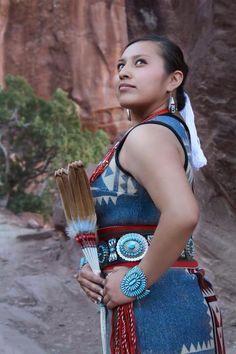 Navajo woman gal Caprice Burnside.