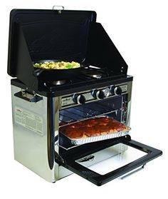 Camp Chef Camping Outdoor Oven with 2 Burner Camping Stove Camp Chef