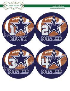 Dallas Cowboys Onesie Stickers