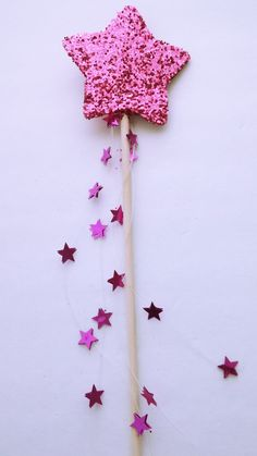 Pink Glitter Star Fairy Wand