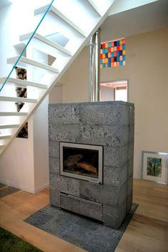Finnish fireplace with 7x less carbon particle emissions than traditional fireplaces