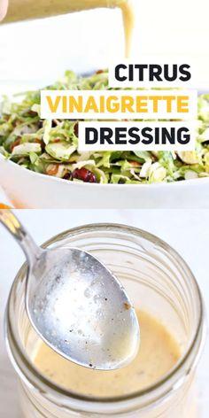 Vinaigrette Salad Dressing, Citrus Vinaigrette, Salad Dressing Recipes, Citrus Salad Dressings, Dressing For Kale Salad, Fat Free Salad Dressing Recipe, Salad Dressing Homemade, Buttermilk Salad Dressing, Greek Yogurt Salad Dressing
