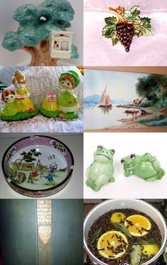 """Green With Envy Awesome Gift Ideas"" by Lori of DaysGoneByTreasures where you will find a Huge Selection of VINTAGE items. Visit her shop here: https://www.etsy.com/shop/Daysgonebytreasures"
