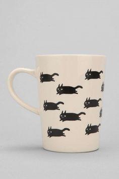 Urban Outfitters Running Cat Mug ($18)