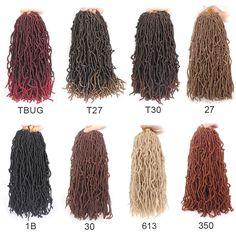 "Xtrend Hair Nu Soft Locs Crochet Hair 24"" Natural Curly Dreadlocks Hair Pretty Braided Hairstyles, Crochet Braids Hairstyles, Twist Hairstyles, Best Crochet Hair, Crochet Hair Styles, Red Braiding Hair, Ombre Crochet Braids, Spring Twist Hair, Curly Hair Styles"