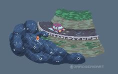 pixelartus: Ponyo Pixel Artist: Joe Rogers Source: joerogersart.tumblr.com