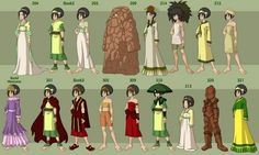 Post with 7883 votes and 315784 views. Tagged with Awesome, ; Shared by ZukoTheFeebleTurtleDuck. Avatar The Last Airbender wardrobe through the entire series. Suki Avatar, Korra Avatar, Team Avatar, The Last Avatar, Avatar The Last Airbender Art, Iroh, Toph Cosplay, Cosplay Outfits, Avatar World