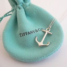 Tiffany & Co. sterling silver anchor necklace Sterling silver Tiffany & Co. anchor necklace. Like new! Will send with Tiffany & Co. dust bag and paper bag. Tiffany & Co. Jewelry Necklaces