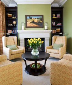 how to arrange furniture in small living room with fireplace - Google Search