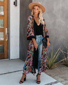 Kimono Fashion, 70s Fashion, Autumn Fashion, Vintage Fashion, Fashion Today, Fashion Hair, Grunge Fashion, Fashion History, Modest Fashion