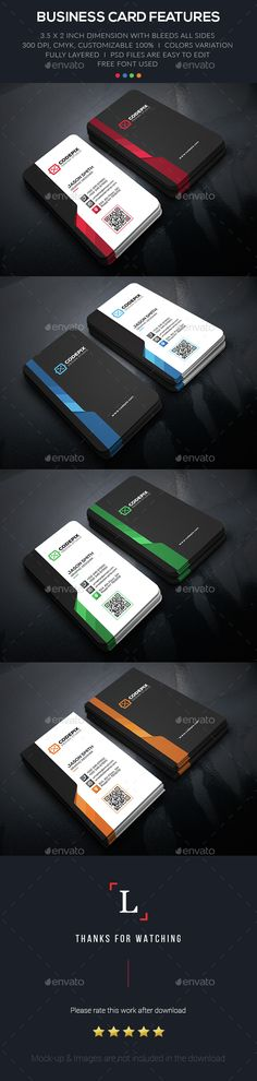 Creative Business Card - #Business Cards Print Templates Download here: https://graphicriver.net/item/creative-business-card/15404475?ref=classicdesignp
