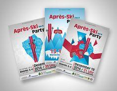 "Luisa Mähringer Check out new work on my @Behance portfolio: ""Plakatentwürfe Aprés-Ski Party"" http://on.be.net/1pfIiZ1"
