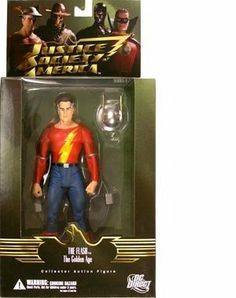 """Justice Society of America Series 1 Golden Age The Flash Action Figure by Diamond Comics Distributors. Save 15 Off!. $16.99. Figure features multiple articulation points and display base. Designed by Alex Ross, based on his covers for the series. Based on DC Comics' Justice Society of America series. Golden Age Flash stands 7.5"""" tall. From the Manufacturer                Based on the painted covers of the justice society of America series, award-winning artist Alex Ross' uniq..."""