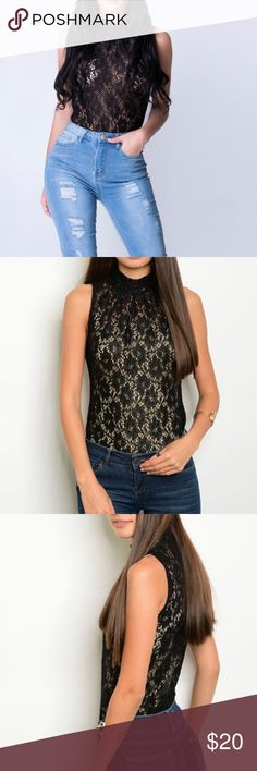 51cddc60c631f Black Lace Bodysuit Regular Size FABRIC CONTENT  90%