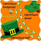 Enjoy this FREEBEE from Teacherscrapbook. Leprechaun tracks, shoes and a hat can dress up any March lesson.