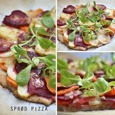 » SPRØD PIZZA MED RODFRUGTER