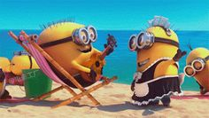 The perfect DespicableMe Minions Beach Animated GIF for your conversation. Discover and Share the best GIFs on Tenor. Gif Minion, Minion Dance, Amor Minions, Minion Humour, Minions Love, Funny Minion, Animiertes Gif, Animated Gif, Minions Animation