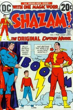 DC's relaunch of Cap in the 70's under the title SHAZAM! because Marvel comics had scooped up the rights to the name Captain Marvel.