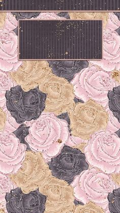 Pink, black and gold roses iPhone lock screen wallpaper Lock Screen Wallpaper Iphone, Locked Wallpaper, Wallpaper Iphone Cute, Computer Wallpaper, Cellphone Wallpaper, Glitter Wallpaper, Rose Wallpaper, Phone Backgrounds, Wallpaper Backgrounds