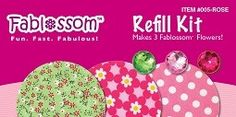 Create beautiful fabric flowers with Fablossom! Refill Kits in Rose are available! #Fablossom