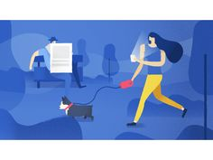 Work from an illustrated series of security tips at Facebook that I worked on with folks from @The Furrow
