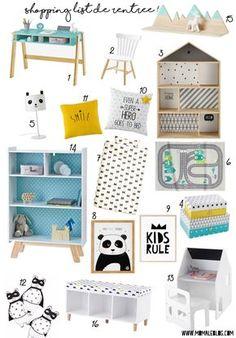Shopping liste Moma boy bedroom