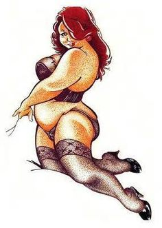 Can bbw pin up art photos are not