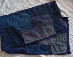 """Handmade Japanese Indigo Boro Scarf - (11.5"""" x 44"""") Made From Antique Textiles -   #Sashiko #Japan #textiles #boro #indigo #scarf #antique #kimono #sashiko"""