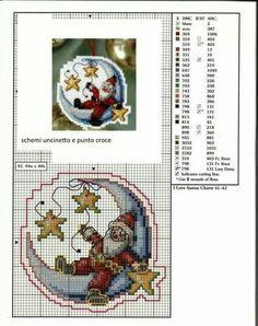 Kerstman op halve maan