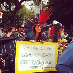 #Indigenous #Lakota  #MitakuyeOyasin (All Are Related). #peoplesclimatemarch #ClimateMarch #Temple #Embankment #London #UK by lightanddark86