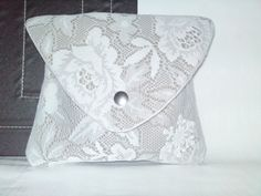 Handmade white lace clutch. Handmade Bags, White Lace, Sunglasses Case, Accessories, Fashion, Moda, Handmade Handbags, Fashion Styles, Fashion Illustrations