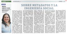 Sobre metadatos y la ingeniería social, por Marta García Terán