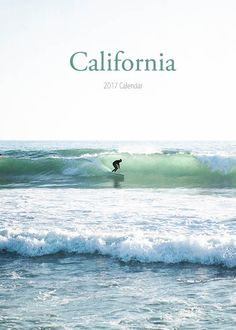 2017 Calendar California Calendar Desk Calendar by BreeMadden