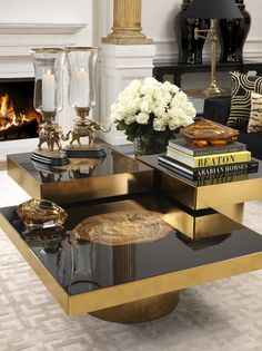 coffee table, living room decor, leopard home accents, gallery wall, interior inspo Luxury Home Furniture, Luxury Home Decor, Luxury Interior Design, Interior Design Living Room, Living Room Designs, Living Room Decor, Furniture Design, Modern Furniture, Sofa Table Design