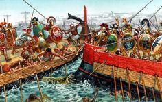 Greek vs Etruscan Sea Battle 6th century