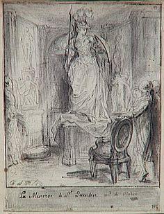 Gabriel Jacques de Saint-Aubin | Album factice : La Minerve de Mlle Saint-Quentin, marchande de modes